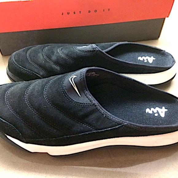 Nike Mens Air Soc Moc Black Suede Size
